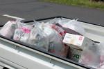 当日、北浦湖畔から回収したゴミ